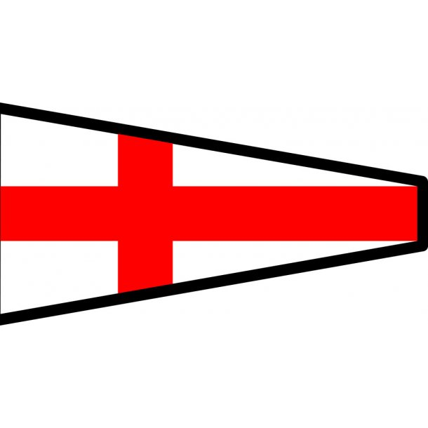 Signalflag vævet 30x45cm 8