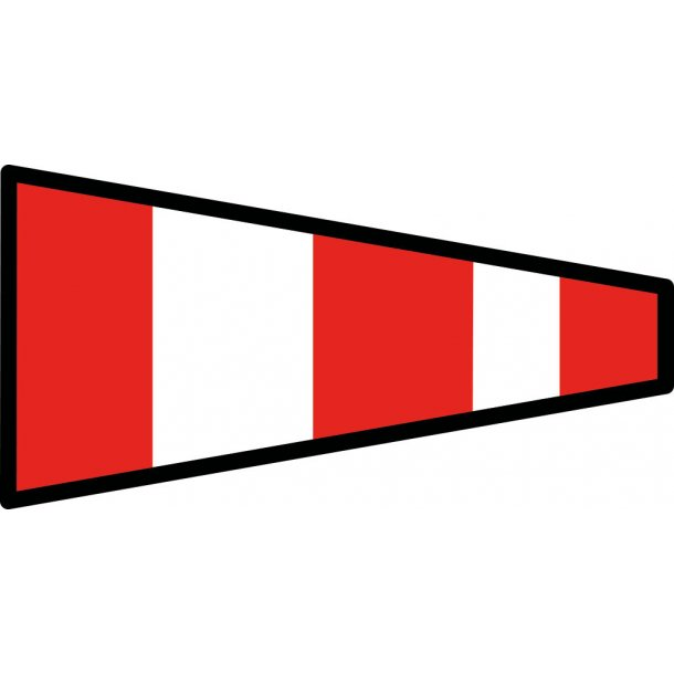 Signalflag vævet 30x45cm