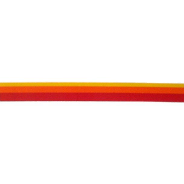 Vandlinie tape 39mm x 10m rød/orange/gul