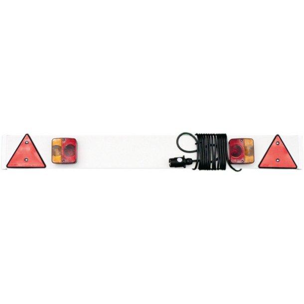 Lygtebom 1m m/5m kabel + 7-polet stik