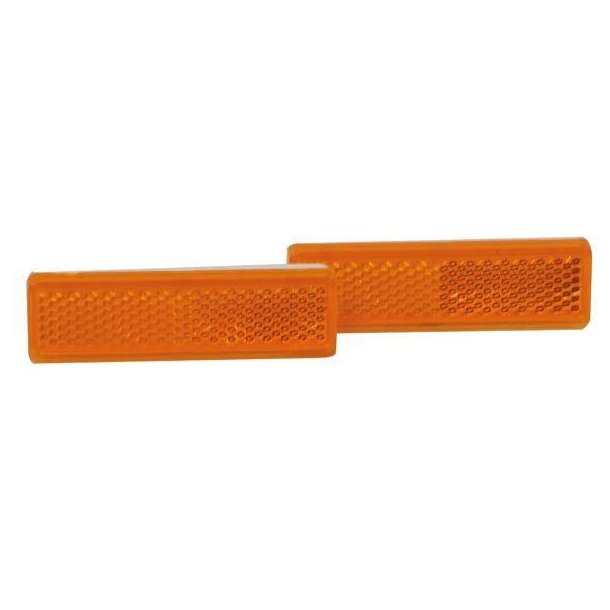 Refleks selvklæbende 20x70 Orange 2-stk