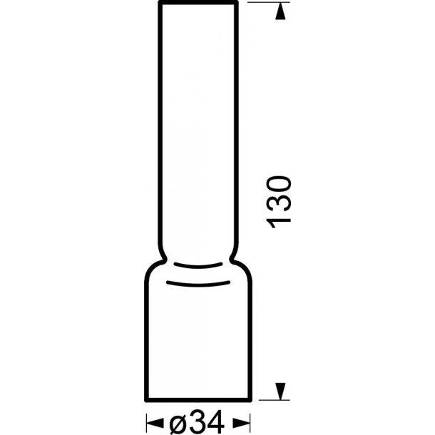 Borosilikat brænderglas 6''' x130