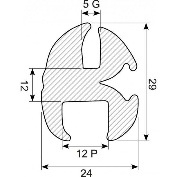Vinduesliste P12G5