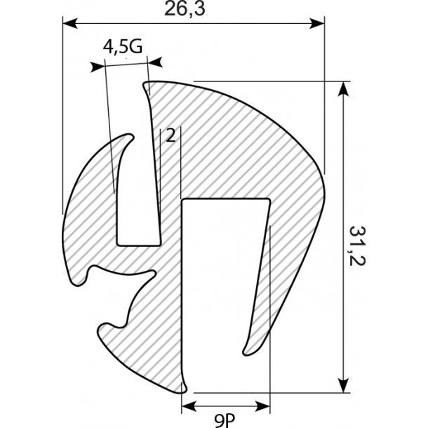 Vinduesliste P9G5