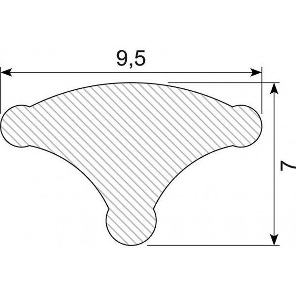 Låsekile 9.5mm sort