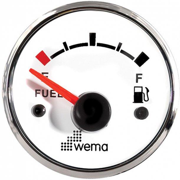 Wema brændstofmåler RF/hvid 0-190 ohm