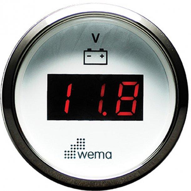 Wema Voltmeter RF/hvid 8-32V