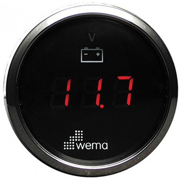 Wema Voltmeter RF/sort 8-32V