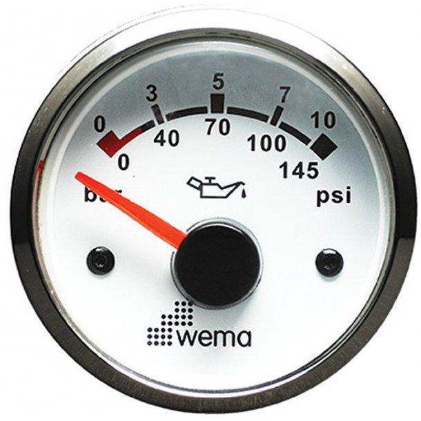 Wema Olietryk instrument RF/hvid 10 bar